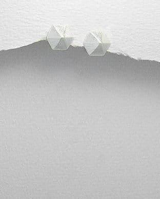 925 Sterling Silver Pyramid Stud Earrings